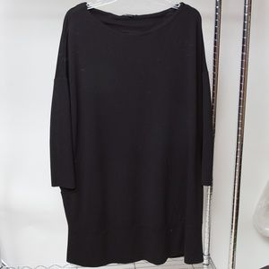 COS Black Wide Neck Dress Size M